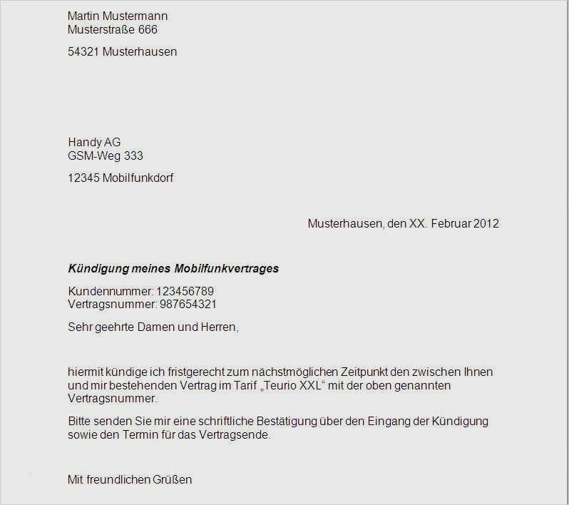 Mobilcom Debitel KГјndigung Vorlage Zum Ausdrucken