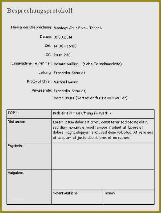Protokoll Vorlagen Zum Runterladen Wordvorlage De 4