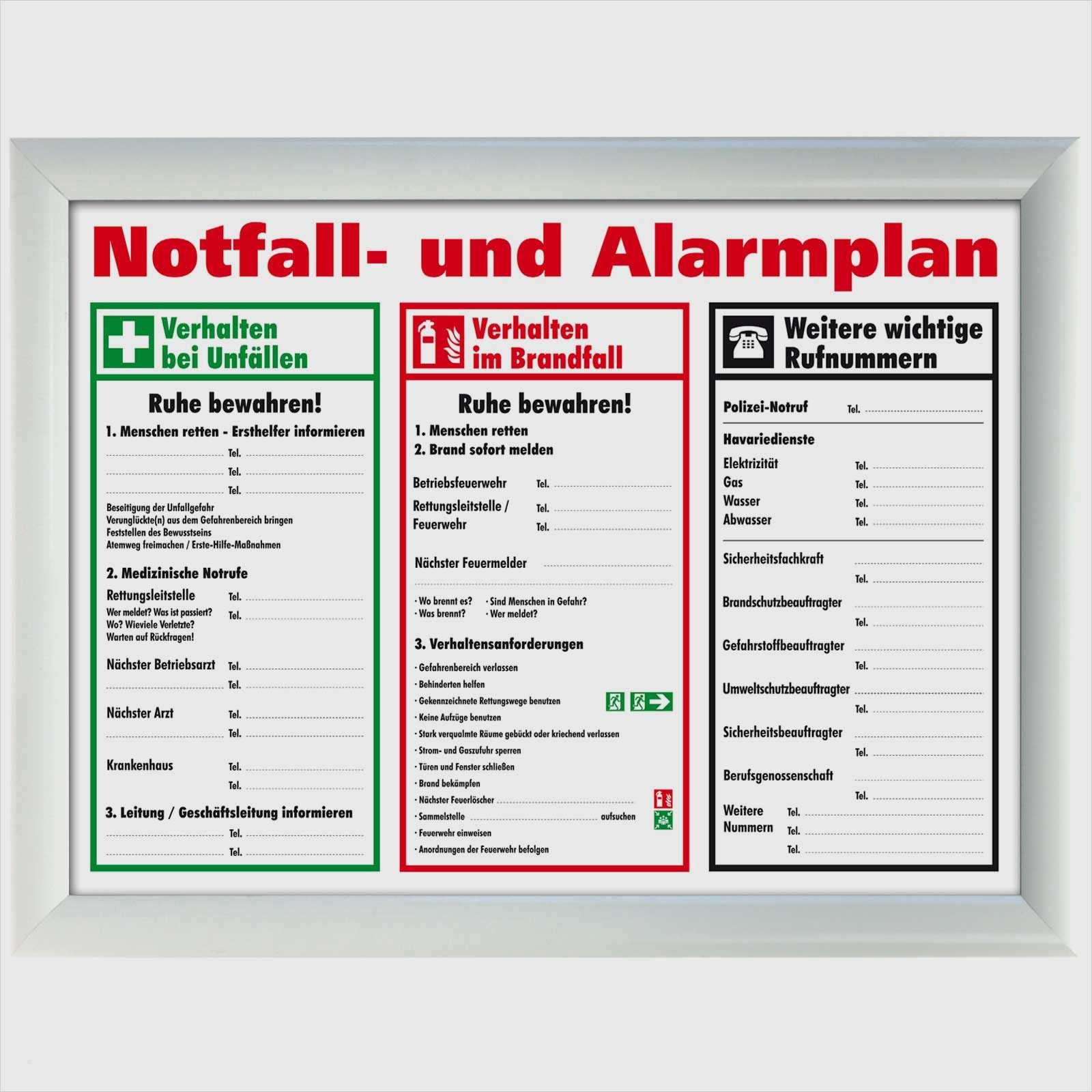 18 Fabelhaft Notfall Und Alarmplan Vorlage