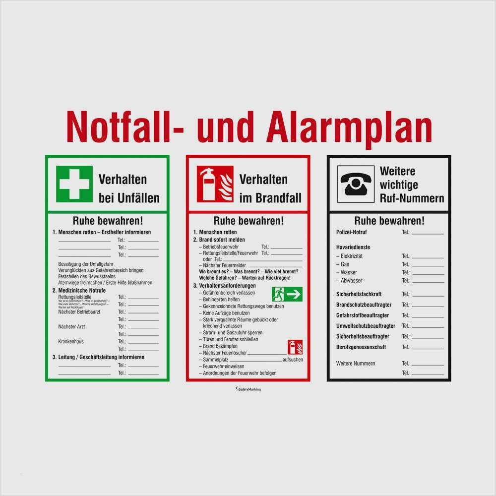 Safetydocx Shop Schild Alarmplan