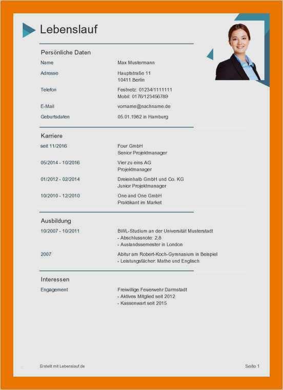 17 lebenslauf muster pdf