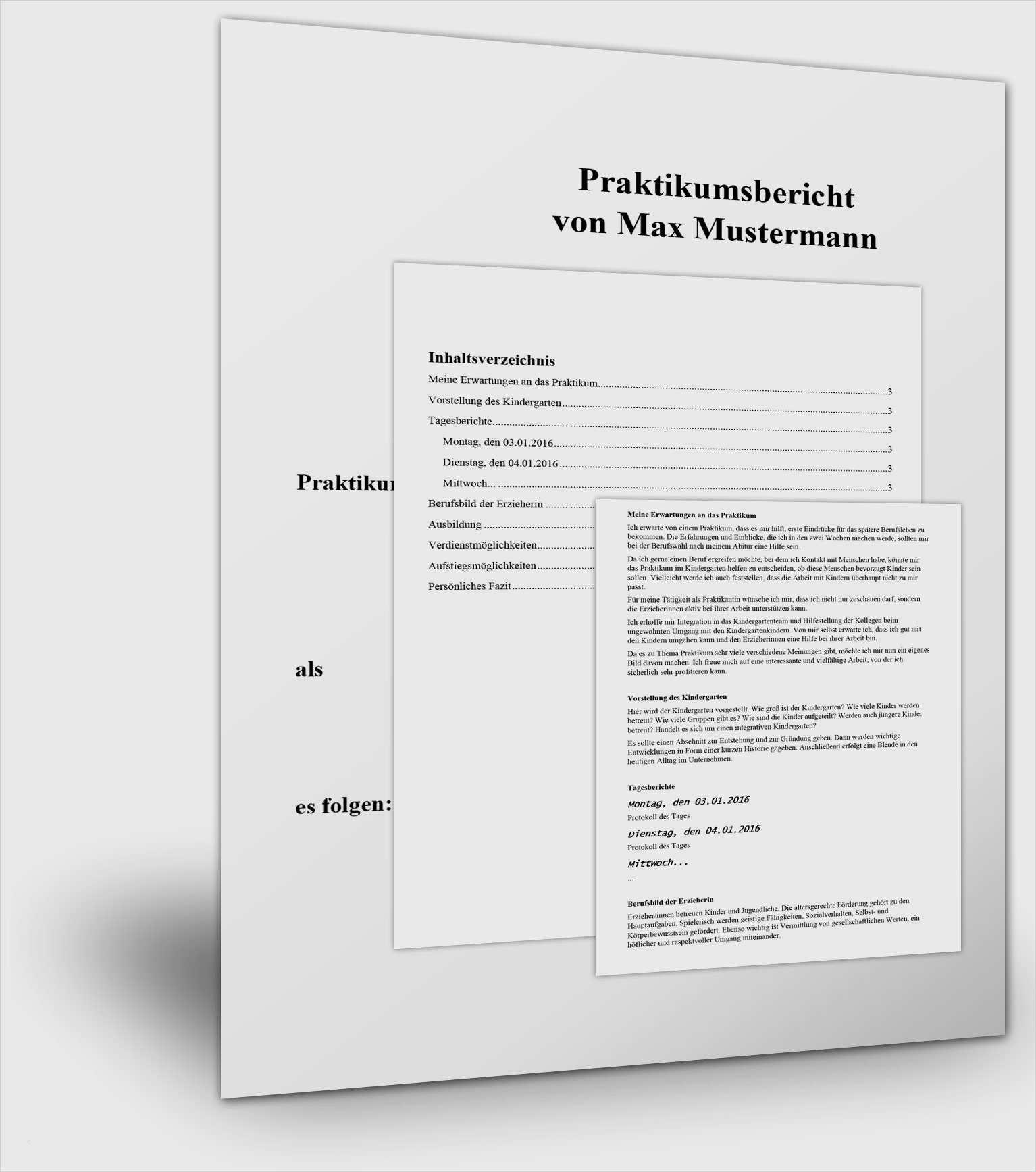Muster Praktikumsbericht Pdf Free Download