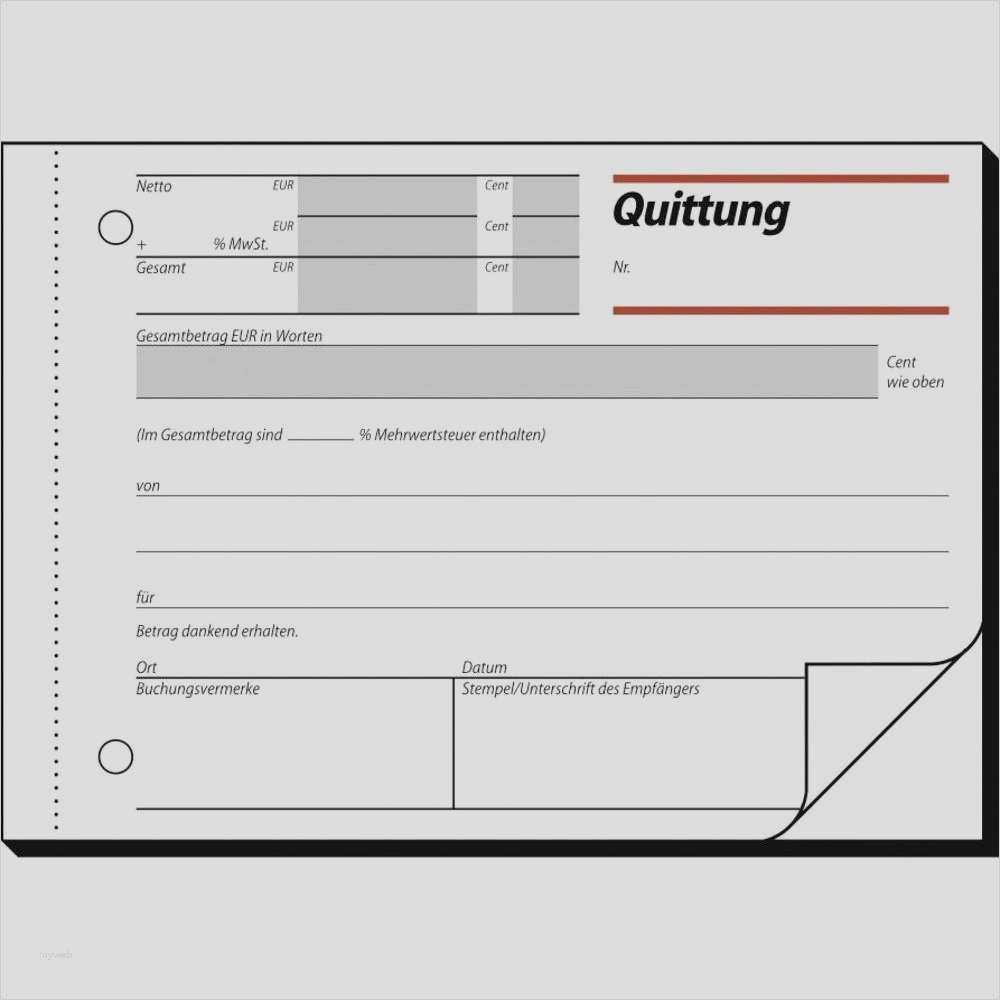 Quittung Vorlage Schweiz Gratis Download