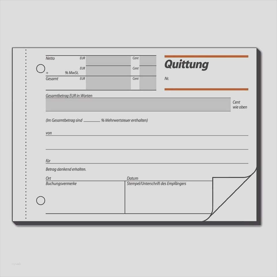 Quittungsvorlage Schweiz Im Word Format Kostenlos