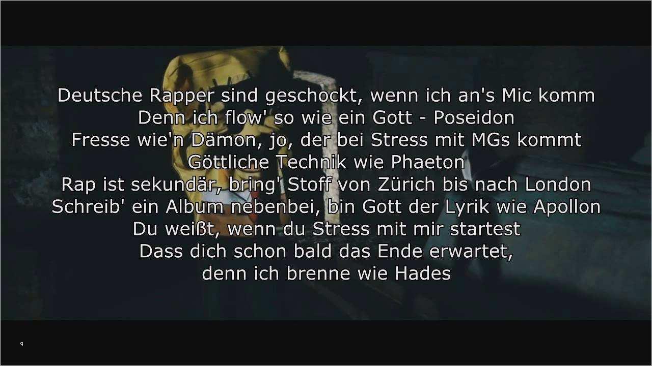 Deutsch Rap Text