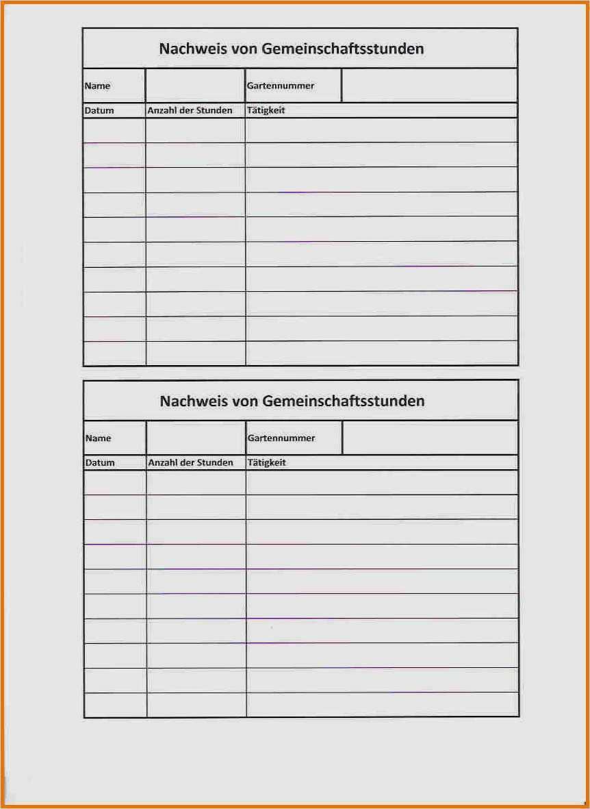 Auftrag Material Und Stundennachweis Formulare 15