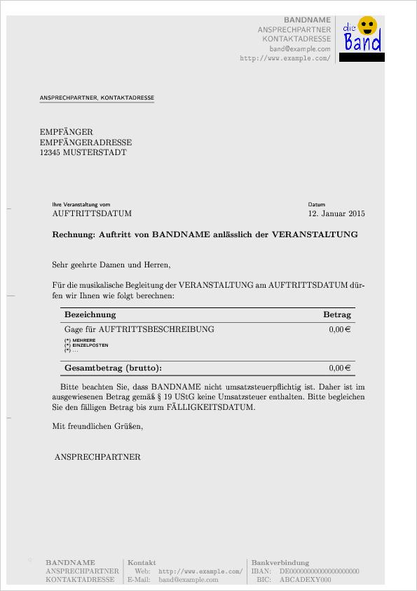 Zuruckweisung Fehlerhafte Rechnung Vorlage Zum Download 1