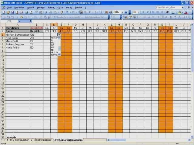 Projektplan Excel Kostenlose Vorlage Zum Downloaden 7