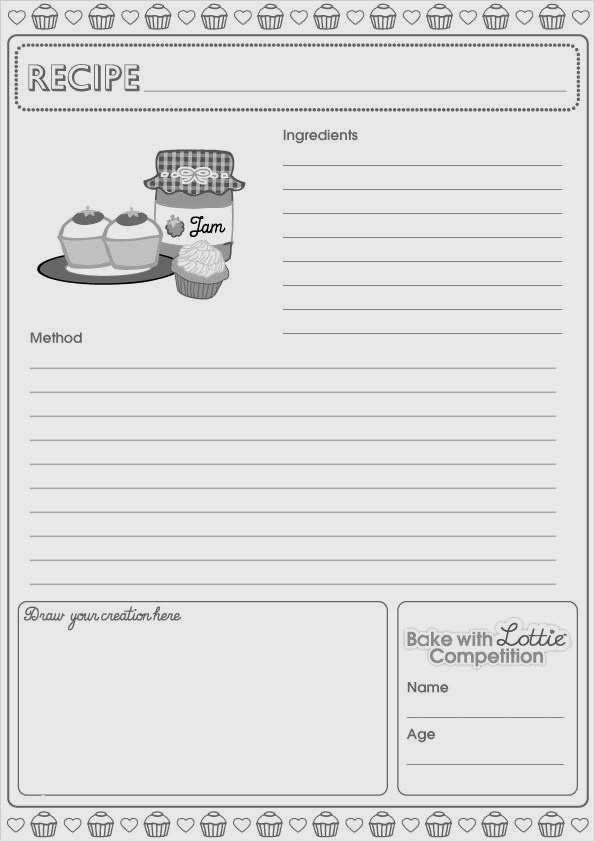 Rezeptvorlage Zum Drucken Printable Recipe 13