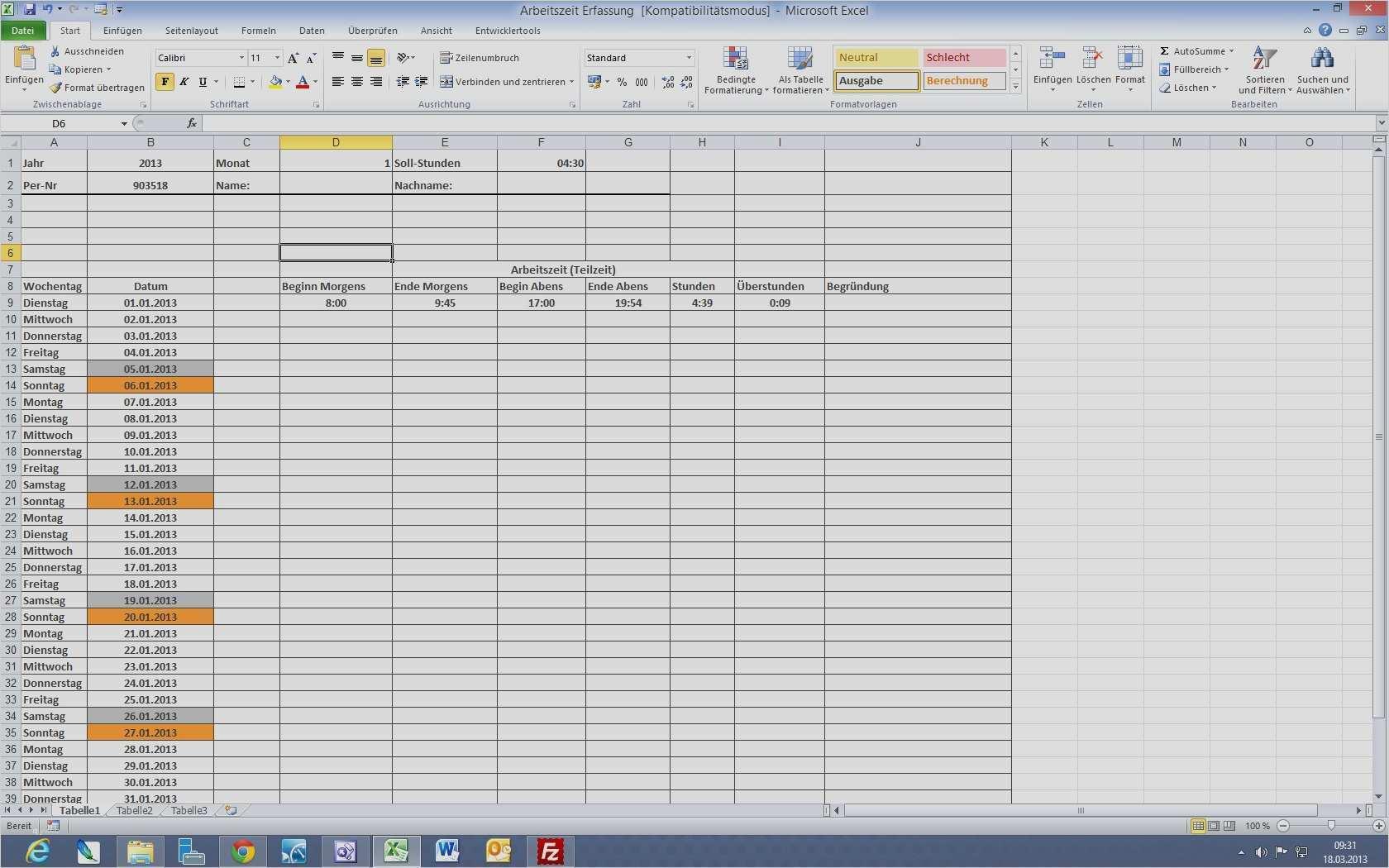 Wunderbar Dienstplan Vorlage Excel Praktisch 2