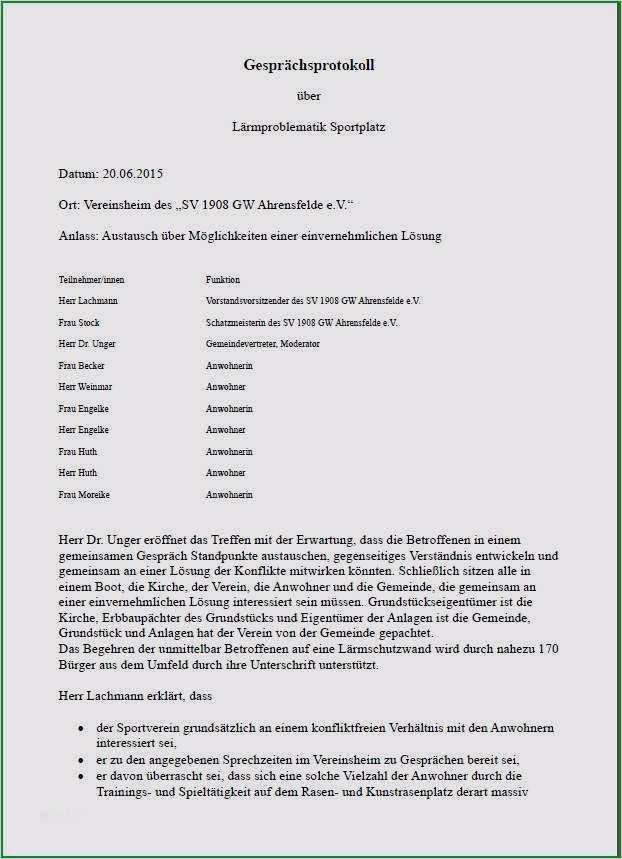 Best Of Schriftfuhrer Verein Protokoll Vorlage 3