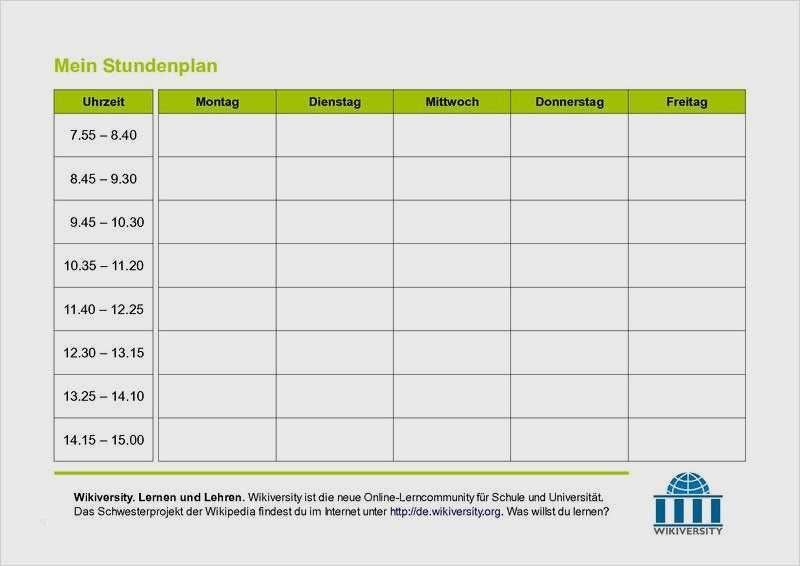 Wunderbar Stundenplan Uni Vorlage Excel Sie Konnen Einstellen In Microsoft Word Dillyhearts Com