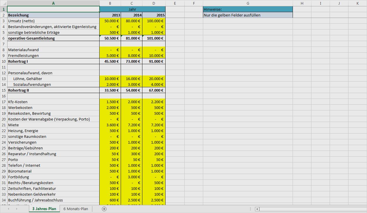 Stundenrechner Excel Vorlage Angenehm Excel Vorlage Rentabilitätsplanung Kostenlose Vorlage