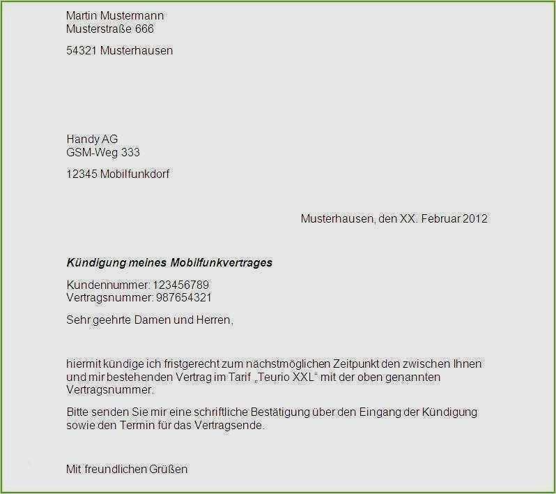 Kundigungsschreiben 1 1 Dsl Vorlagen Muster Kundigung 9