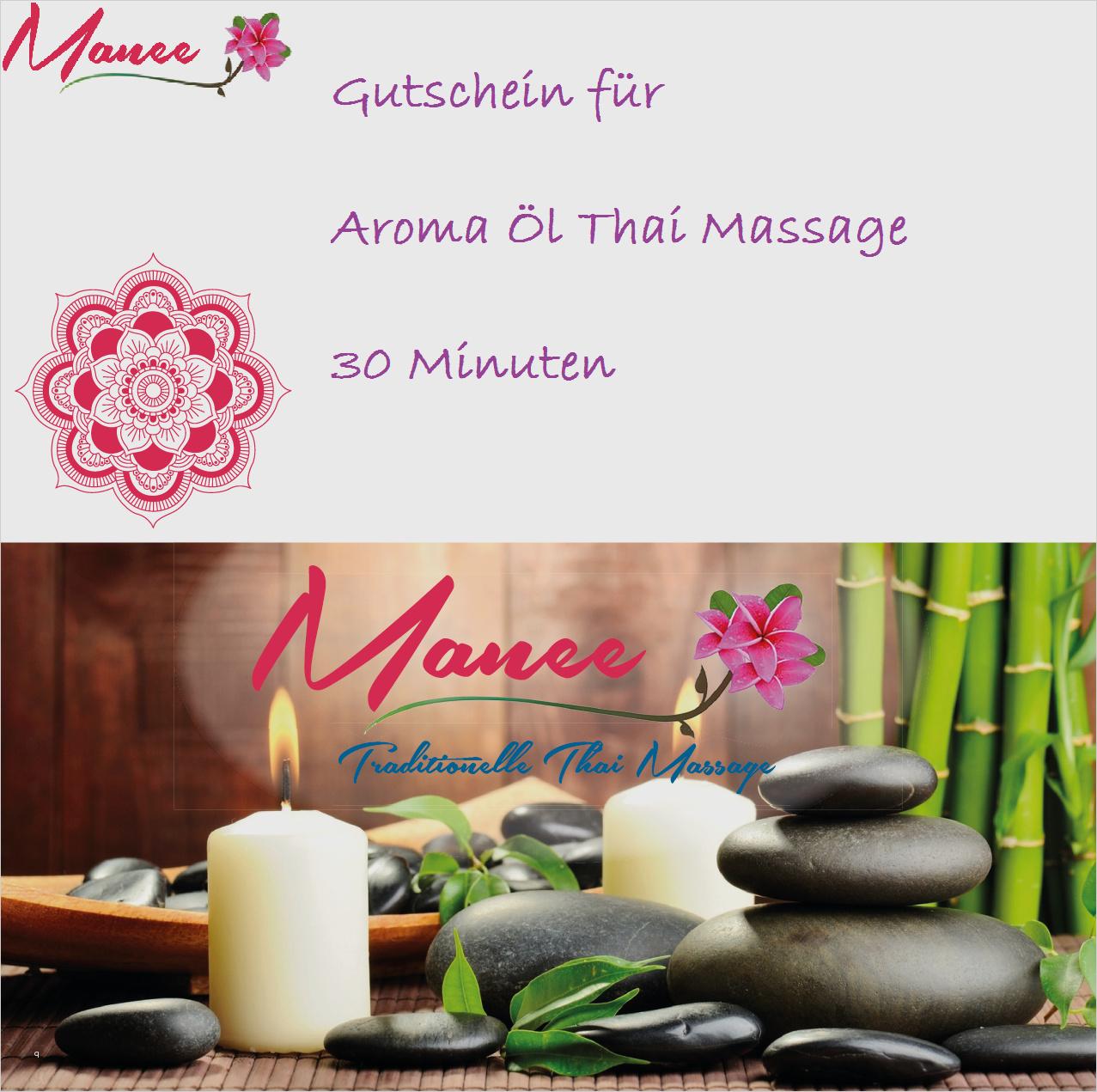 Thai Massage Gutschein Vorlage Best Of Gutscheine Für Eine