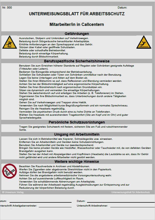 Unterweisung Umgang Feuerloscher Vorlage Zum Download
