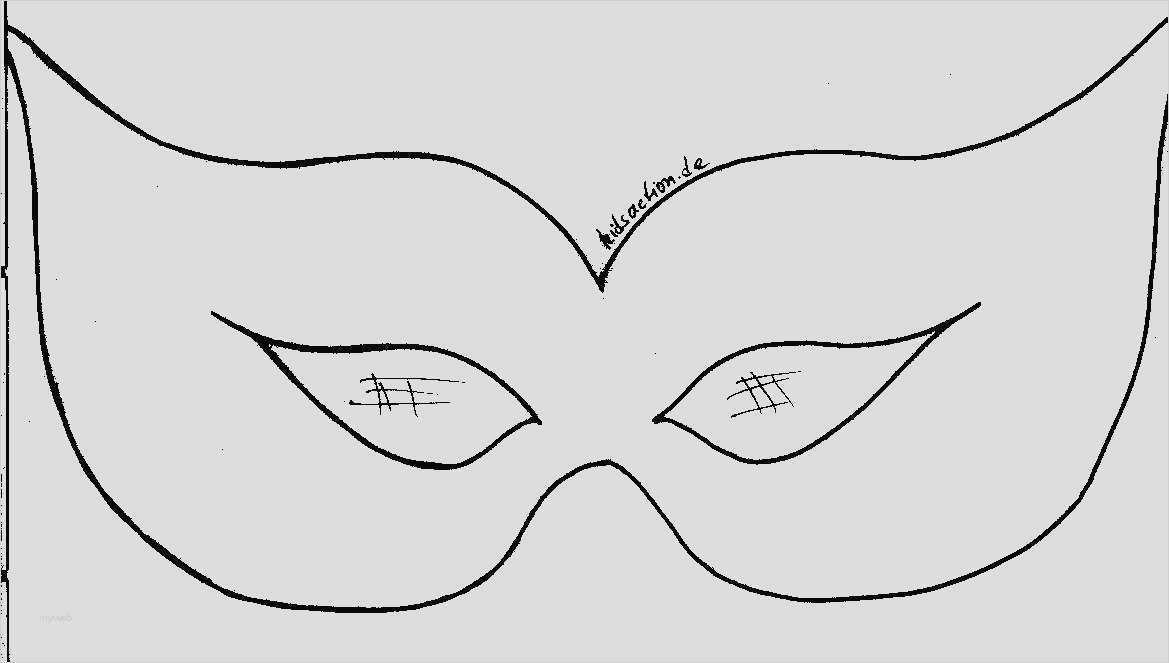 Faschingsmasken Vorlage Zum Ausmalen Children