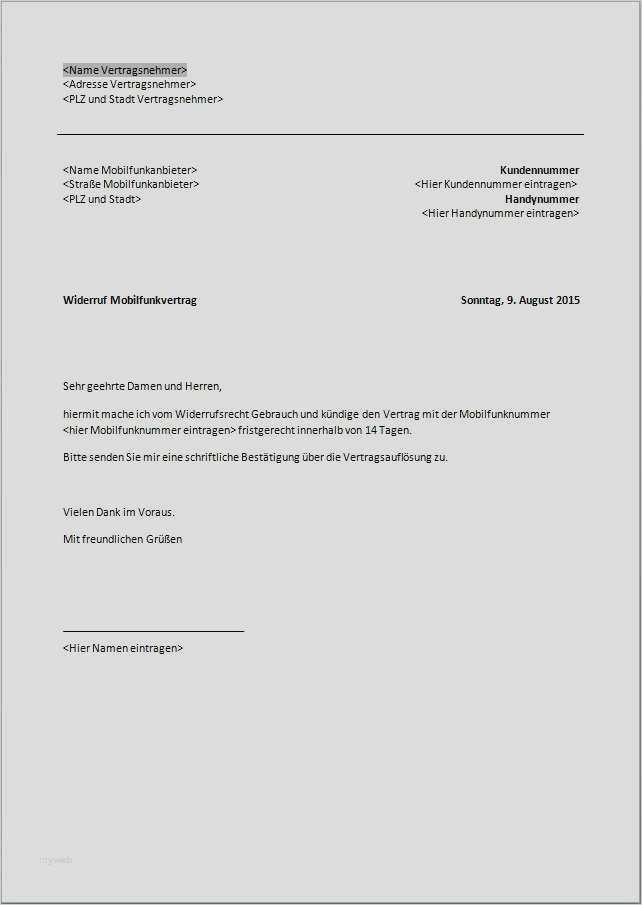 Kundigung Mobilfunkvertrag Vorlage Download Kostenlos Chip 0