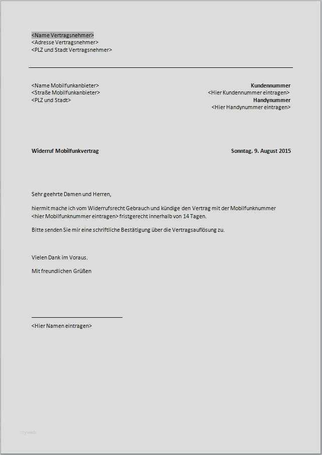 Kundigung Handyvertrag Vorlage Mobilcom Handyvertrag 1