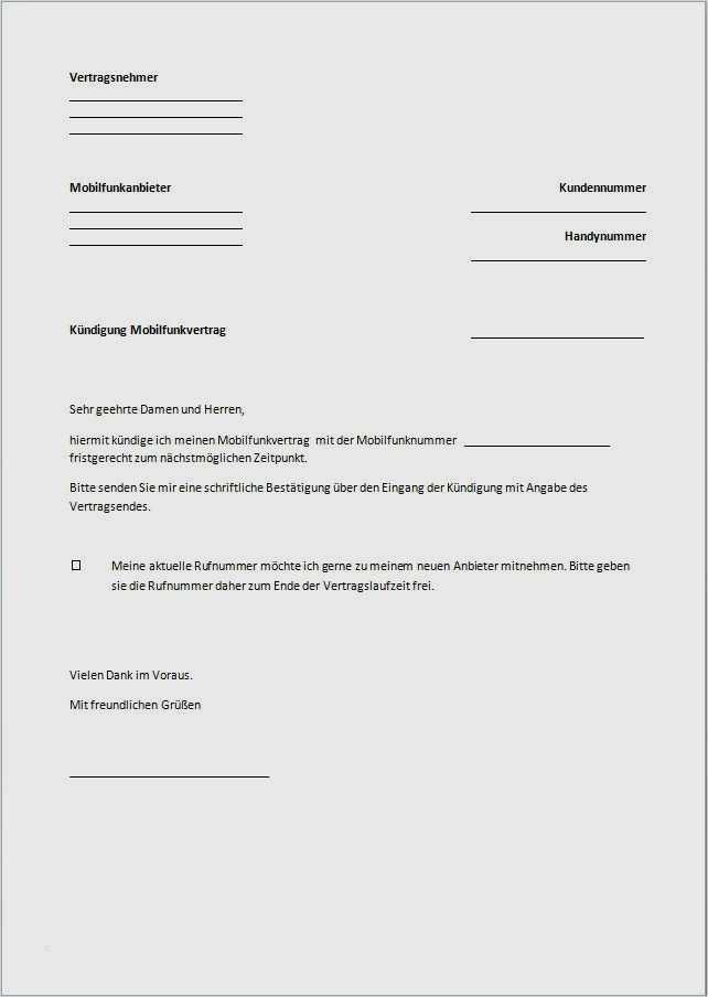 20 Süß Vodafone Vertrag Kündigen Vorlage Ebendiese Können