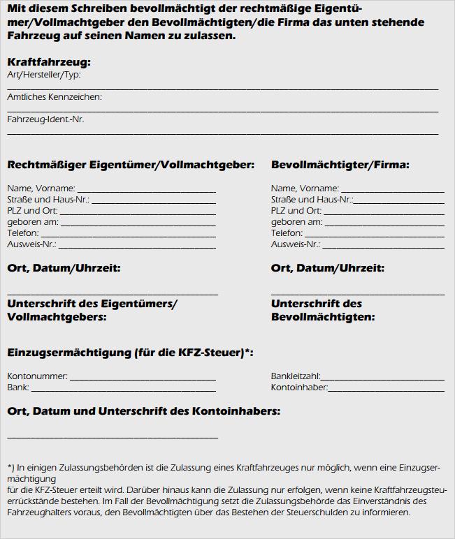 Vollmacht Kfz Pdf Vorlage Download Chip
