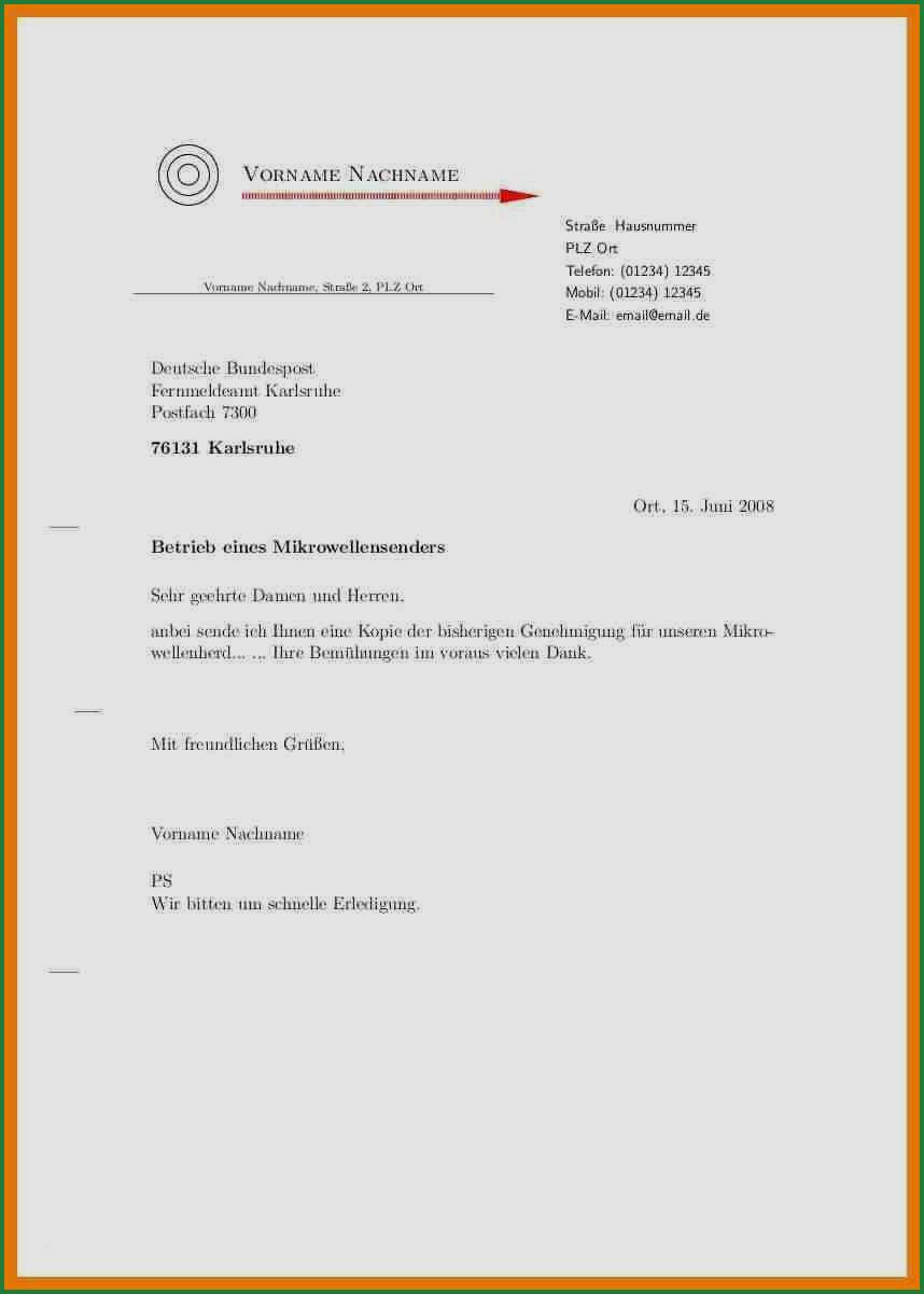 Din 5008 Musterbrief Vorlage Pdf Word Download 4