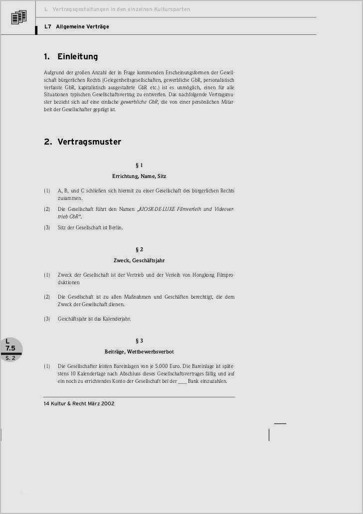 Mustervertrag Gbr Vertrag Pdf Free Download 8