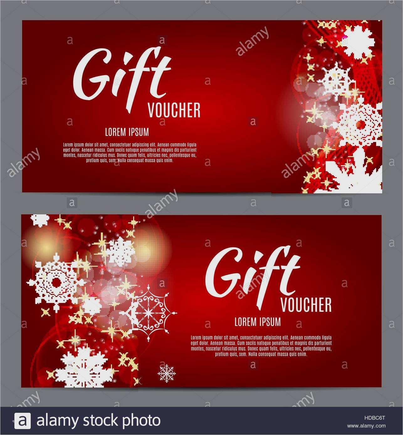Weihnachtsgeschenkgutschein Word Vorlage 8