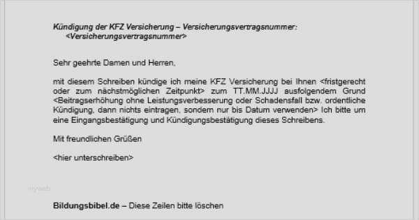 Vhv Kfz Versicherung Kundigung Vorlage Download Chip 9