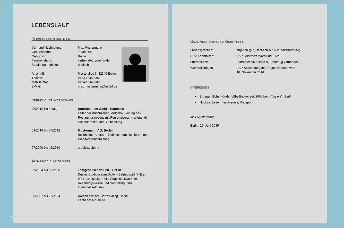 Vorlage Lebenslauf Word Hübsch 13 Lebenslauf 2016 Vorlage Word