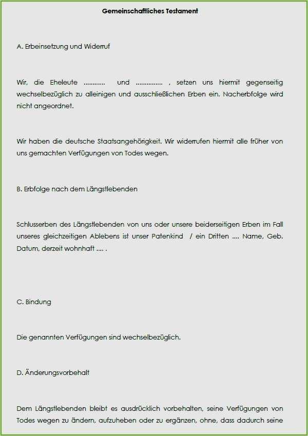 vordruck berliner testament