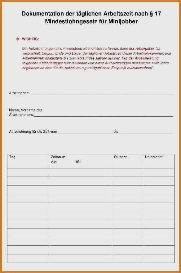 Arbeitszeiterfassung Mit Excel Vorlage Als Download