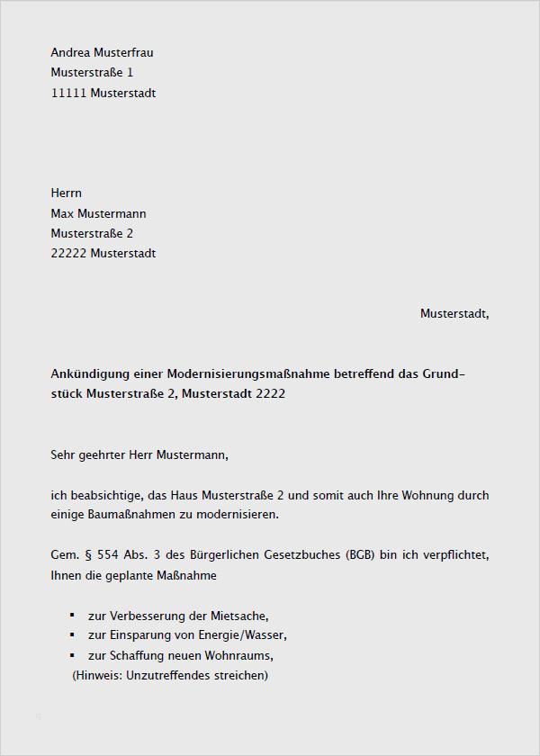 Mieterhohung Modernisierung Musterbrief Zum Download 1