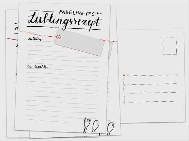 Vektor Rezeptkarte Und Einkaufslistenvorlage
